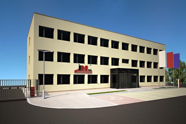 Vizualizace - 3.NP provozní budova
