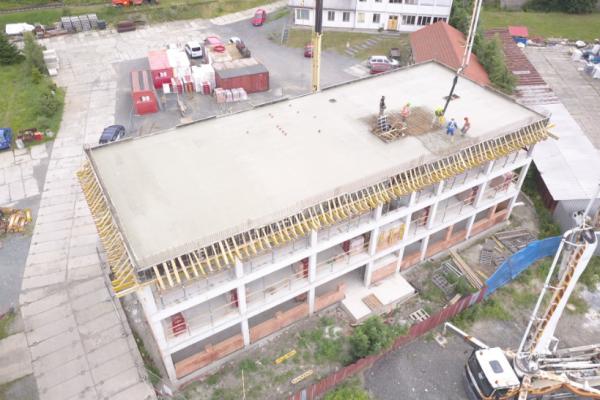 Betonáž střechy